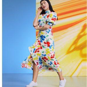 RIXO Target White Multi-Floral Maxi Dress Sz 0